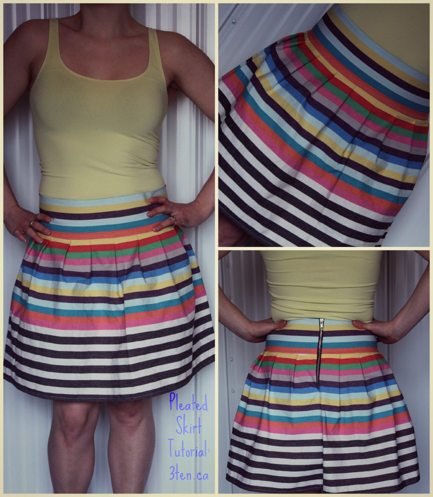 Tutorial: Pleated Skirt - 3ten