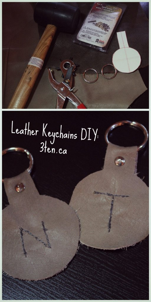 Leather Keychain DIY: 3ten.ca
