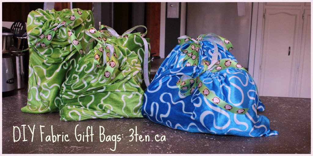 Fabric Gift Bags: 3ten.ca