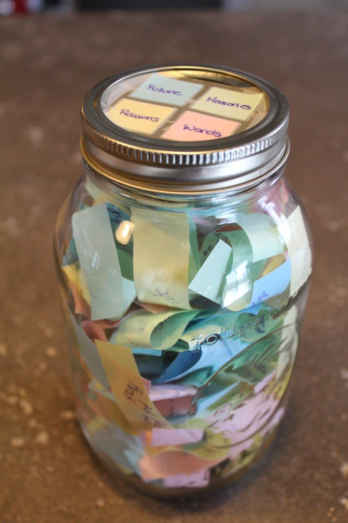 valentine's day food quote - Project Valentine s Post it Gift Jar 3ten
